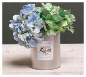 Металлическое кашпо для цветов Flowers  Дарите счастье