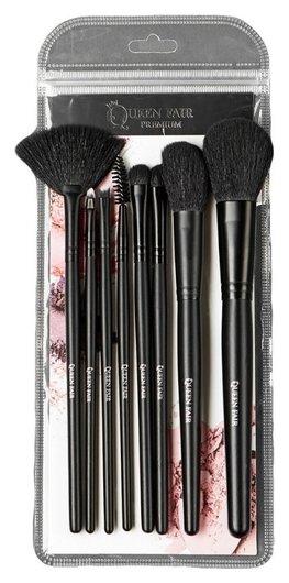 Набор кистей для макияжа, 8 предметов, цвет чёрный  Queen Fair