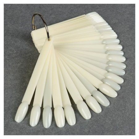 Палитра для лаков на кольце, 50 ногтей, форма миндалевидная, цвет «Слоновая кость»  Queen Fair