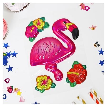 Наклейки на воздушные шары «Фламинго»  Страна Карнавалия