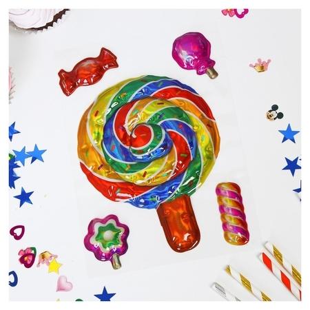 Наклейки на воздушные шары «Леденец»  Страна Карнавалия