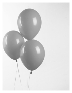 "Шар латексный 12"", пастель, набор 100 шт., цвет серый  Globos Festival S.A."