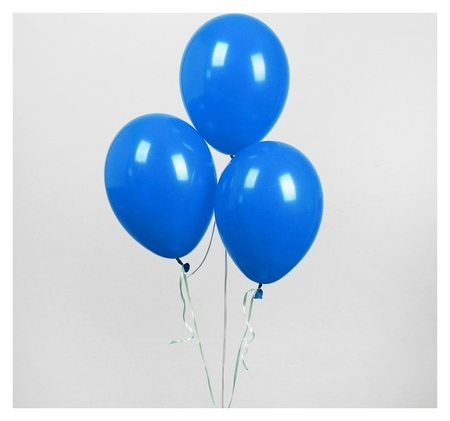 """Шар латексный 12"""", пастель, набор 25 шт., цвет синий  Globos Festival S.A."""
