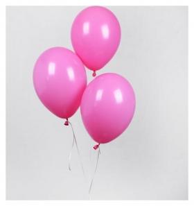 """Шар латексный 12"""", пастель, набор 25 шт., цвет розовый  Globos Festival S.A."""