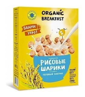 """Завтраки сухие """"Рисовые шарики""""  Компас здоровья"""