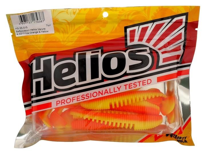 Виброхвост Helios Varuna 11 см Orange & Yellow Hs-35-015, набор 7 шт.  Helios