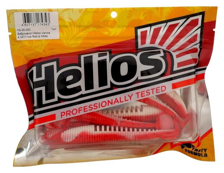 Виброхвост Helios Varuna 11 см Red & White Hs-35-003, набор 7 шт.  Helios