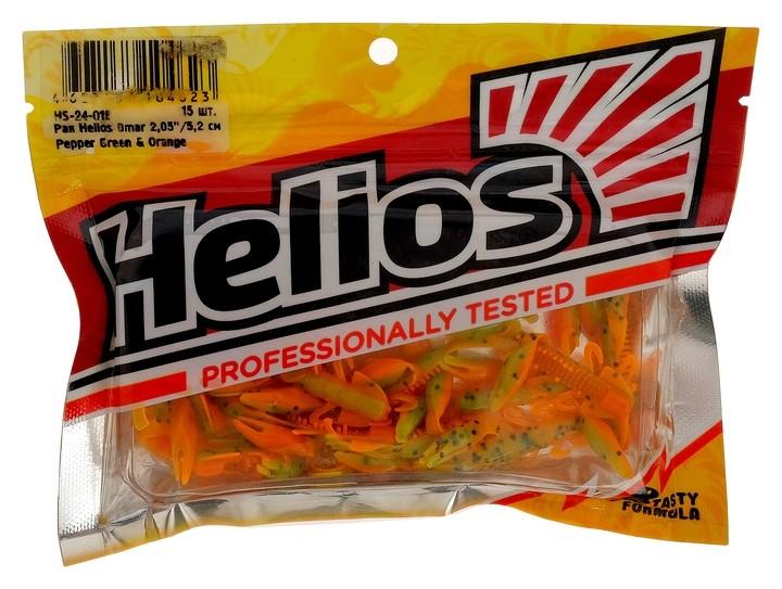 Рак Helios Omar 5,2 см Pepper Green & Orange Hs-24-018, набор 15 шт.  Helios