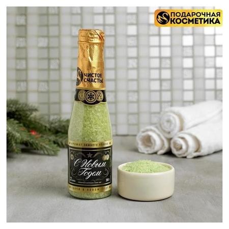 Соль для ванн с ароматом зимнего яблока  Чистое счастье