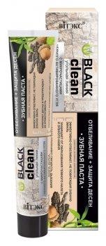 Зубная паста отбеливание+защита десен с микрочастицами черного активированного угля и корой дуба