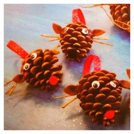 Набор для создания подвесной ёлочной игрушки из шишек «Зверятки»  Школа талантов