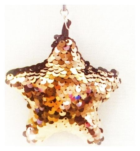 Набор для создания подвески из ткани «Звезда», с пайетками  Школа талантов