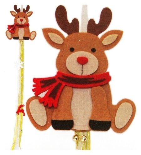 Набор для создания новогодней подвески «Олень в шарфике»