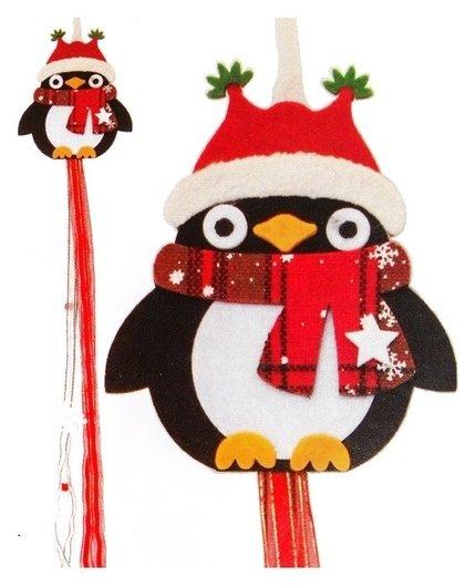 Набор для создания новогодней подвески «Пингвин в шарфике» Школа талантов