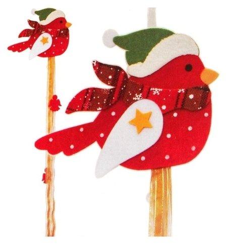 Набор для создания новогодней подвески «Птичка в шапочке»  Школа талантов
