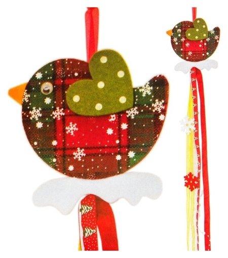 Набор для создания новогодней подвески «Птичка»  Школа талантов
