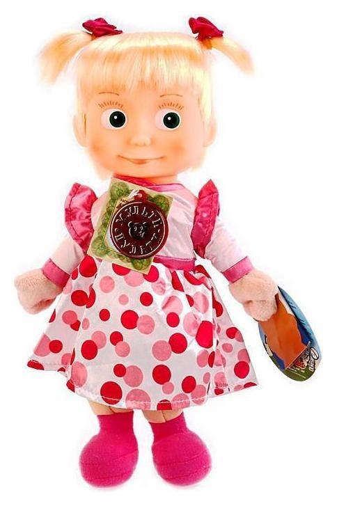 Кукла мягкая «Маша и медведь. маша в нарядном платье», 29 см  Мульти-пульти