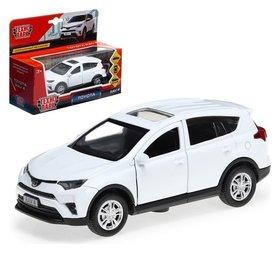 Машина металлическая Toyota Rav4, 12 см, открывающиеся двери, инерционная, цвет белый Технопарк