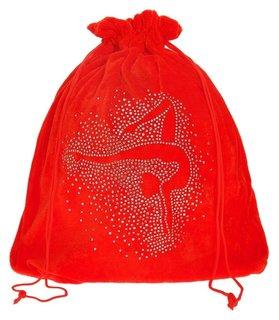 Чехол для мяча «Гимнастка», цвет красный, 35 × 36 см  Grace dance