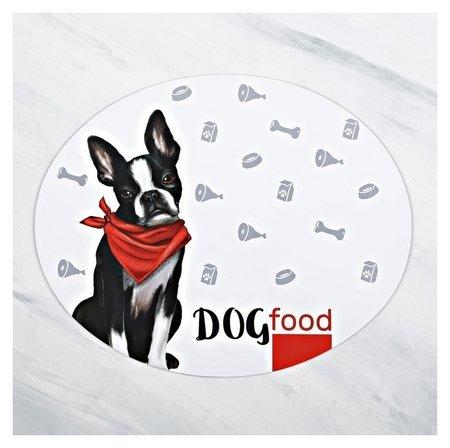 Коврик под миску Dog Food 35х28 см  Пушистое счастье