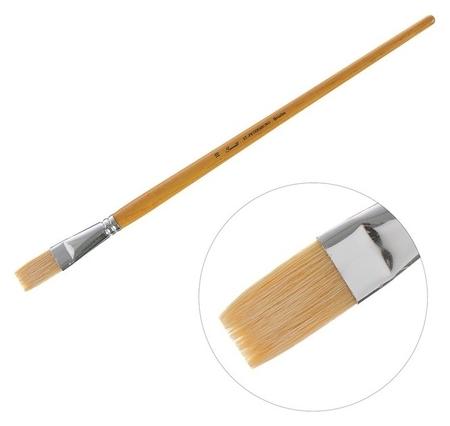 Кисть «Сонет» №10, щетина, плоская, длинная ручка, D=17 мм  Невская палитра