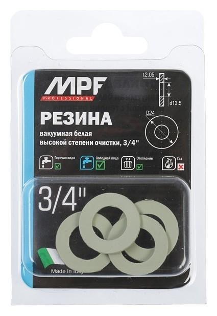"""Прокладка резиновая Masterprof, Mpf, 3/4"""", набор 4 шт., белая  MasterProf"""