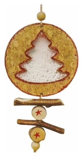 Набор для творчества - создай ёлочное украшение «Ёлочка со снегом» Школа талантов