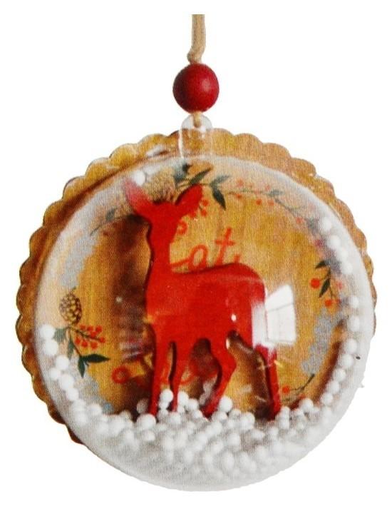 Набор для творчества - создай ёлочное украшение «Олень со снегом»  Школа талантов