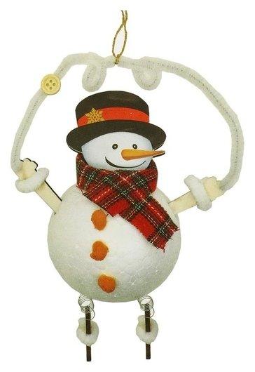 Набор для творчества - создай ёлочное украшение «Снеговичок на проволочке»  Школа талантов