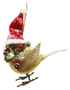 Набор для творчества - создай ёлочное украшение «Птичка в колпачке»  Школа талантов