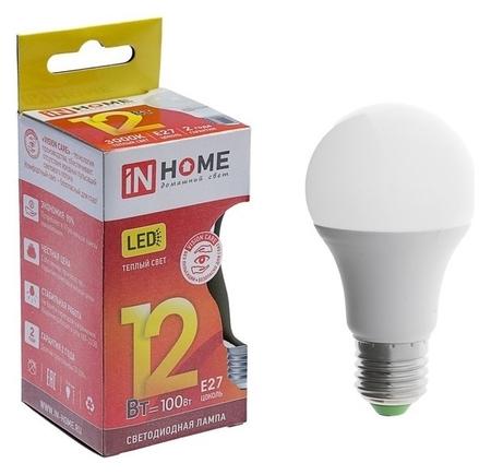 Лампа светодиодная IN Home Led-a60-vc, е27, 12 Вт, 230 В, 3000 К, 1080 Лм  INhome