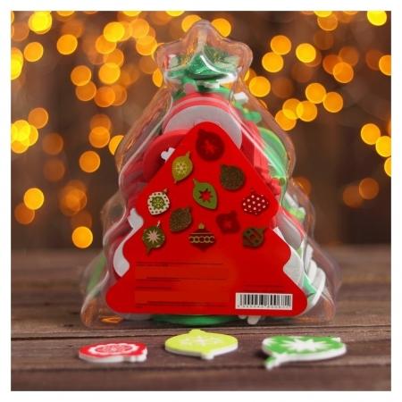 Декор для творчества на клеевой основе «Новогодние игрушки», набор 94 шт.  Школа талантов