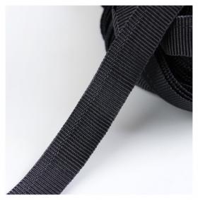 Лента брючная, 15 мм, 25 ± 1 м, цвет чёрный  Гамма