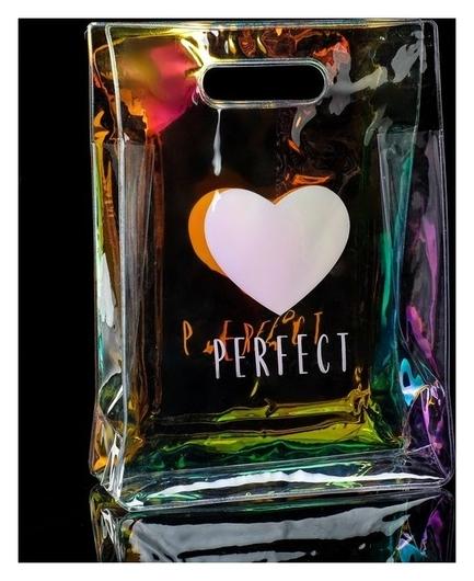 Пакет из голографического пластика Perfect, 18 × 24 × 6,5 см  Дарите счастье