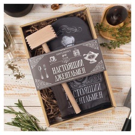 "Кухонный набор ""Джентельмен"" варежка-прихватка 20х28 см, молоток  Доляна"