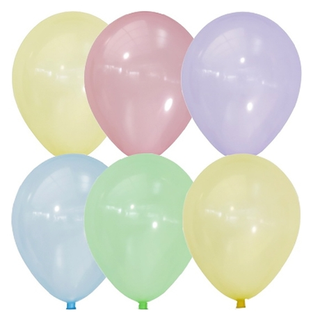 "Шар латексный 12"" Bubble, кристалл, набор 100 шт.  Latex Occidental"
