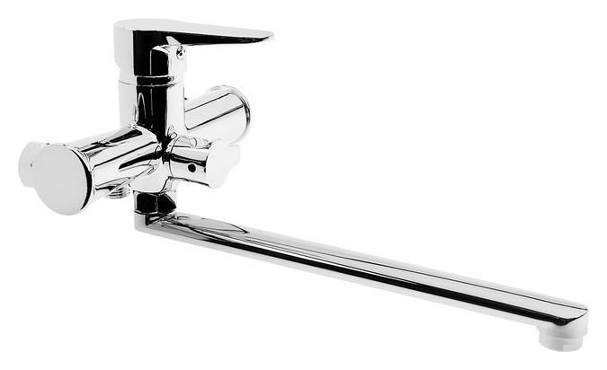 Смеситель для ванны Accoona A71111, однорычажный, силумин, хром  Accoona