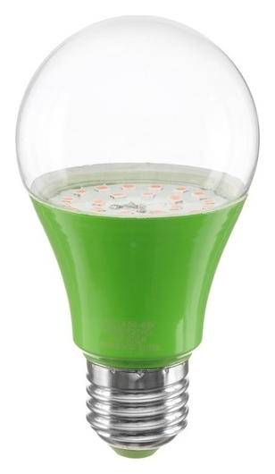 Лампа светодиодная для растений Uniel, а60, е27, 8 Вт, спектр для рассады и цветения  Uniel