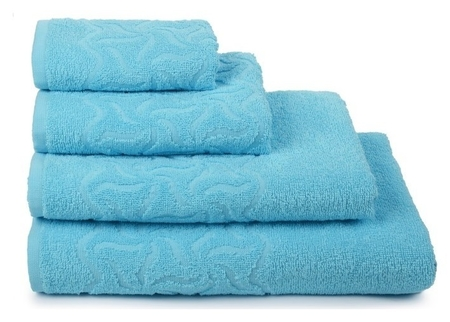 Полотенце махровое «Радуга» 50х90 см, цвет бирюза, 305г/м2  Cleanelly