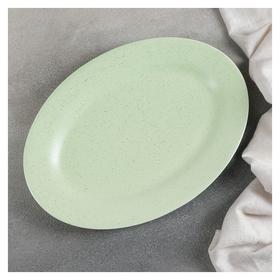 Блюдо «Амелия», 24,5×20 см, цвет зелёный  Доляна