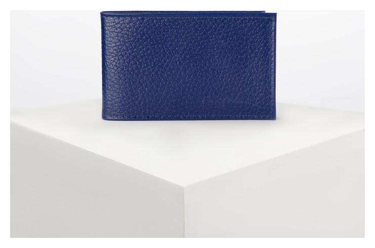 Визитница горизонтальная, 1 ряд, 18 листов, цвет синий  Cayman