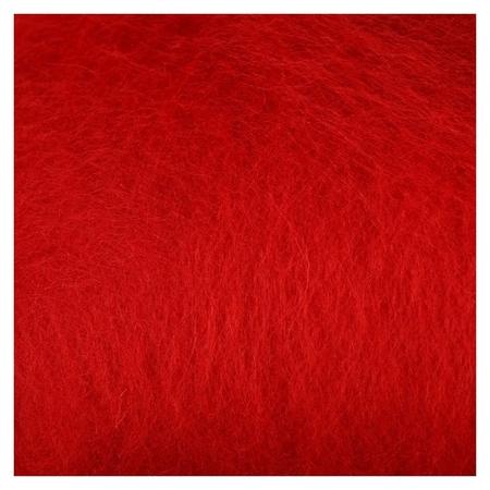 """Шерсть для валяния """"Кардочес"""" 100% полутонкая шерсть 100гр (046 красный)  Камтекс"""