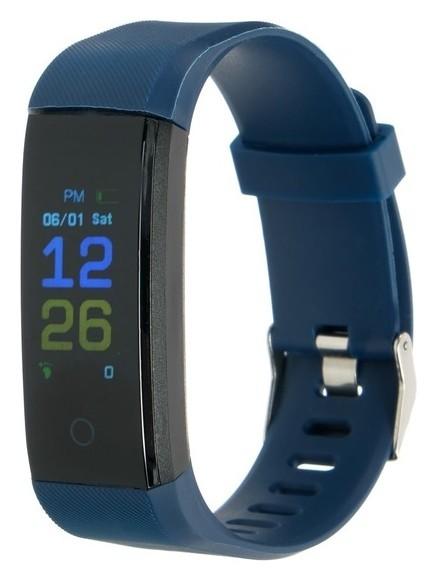 "Фитнес-браслет Luazon Lf-07, экран 0,96"", Bluetooth 4.0, синий  LuazON"