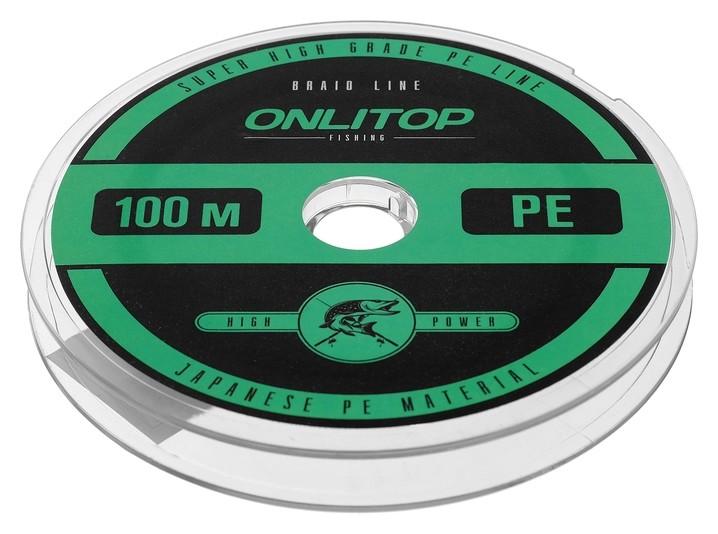 Леска плетёная, D=0,14 мм, 100 м, цвет зелёный  Onlitop