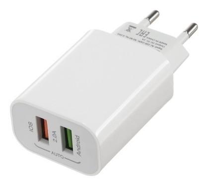 Сетевое зарядное устройство Luazon Ln-110ac, 2 Usb, 2 A, белое  LuazON