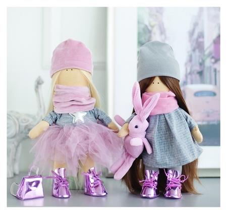 Интерьерные куклы «Подружки вики и ники- на праздник» набор для шитья,15,6 × 22.4 × 5.2 см  Арт узор