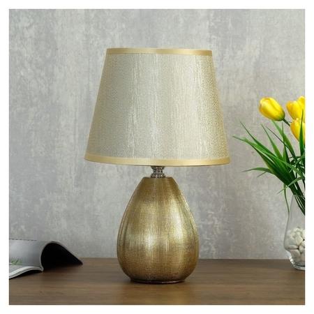 Лампа настольная 08945/1 E14 40вт золото 17х17х31 см  КНР