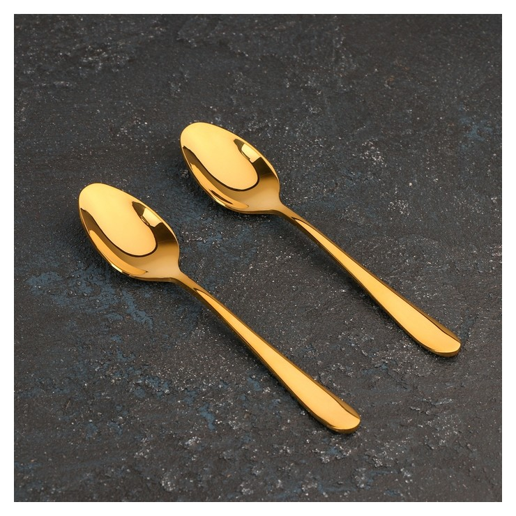 Набор ложек чайных 14 см, цвет золотой  Wilmax England