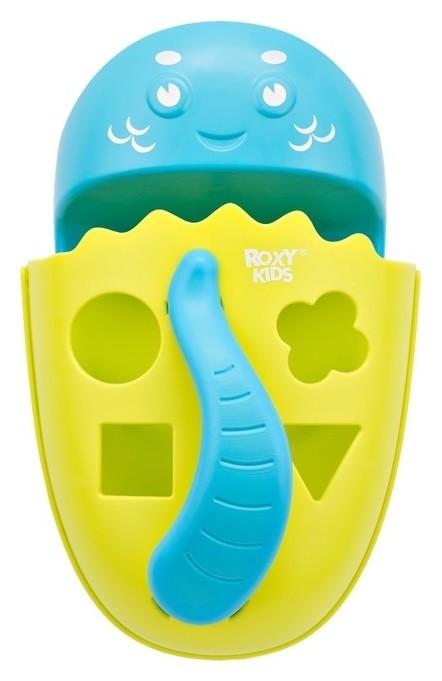Органайзер-сортер Dino с полкой для игрушек и банных принадлежностей, цвет зеленый  Roxy kids
