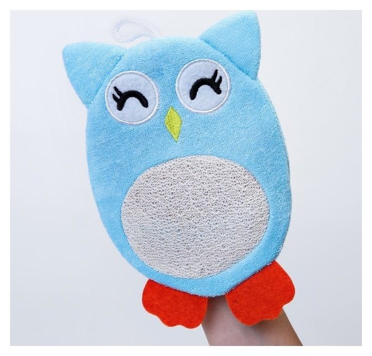 Махровая мочалка-рукавичка Baby Owl  Roxy kids